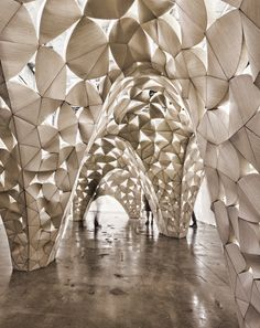 Voussoir Cloud installation | Sci-Arc, Los Angeles, CA | 2008 | Architect: IwamotoScott
