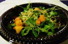 Micro Arugula in Squash Salad