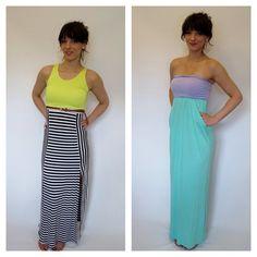 Maxi dresses both $39 www.lundyjanesboutique.com