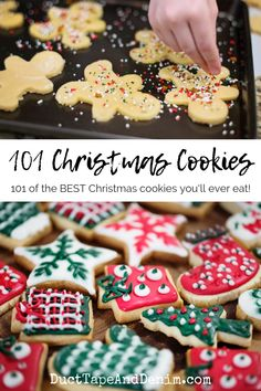 101 of the BEST Christmas Cookies You'll Ever Eat! 101 of the best Christmas cookies you'll ever eat! Easy Christmas Cookie Recipes, Best Christmas Cookies, Christmas Snacks, Christmas Cooking, Holiday Cookies, Holiday Recipes, Christmas Baskets, Christmas Mood, Christmas Goodies