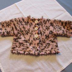 Pink Brown and Tan Baby Girl Crocheted Blanket by susanstreasures, $75.00