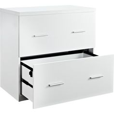 Awesome White 2 Drawer Lateral File Cabinet