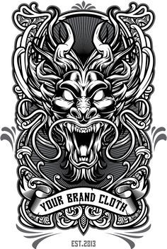 Dragon vector - tshirt design template on behance Graffiti Tattoo, Graffiti Art, Vector Design, Vector Art, Graphic Design, Art It, Bad Trip, Design Dragon, Tattoo P