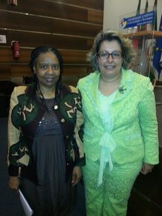 With the South African Embassador at the Conference to Celebrate the 50th Aniversary of the African Union.