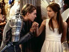 Leonardo Dicaprio as Romeo and Claire Danes as Juliet.