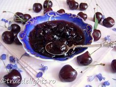 Dulceata de cirese Cherry, Cooking Recipes, Pudding, Yummy Food, Meals, Fruit, Countries, Desserts, Drink