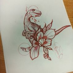 Bit of a time waster for the morning #dinosaurtattoo #frostbitetattoo #designs #maintainthepresence