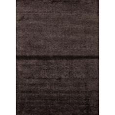 Hand-loomed Solid Brown Bamboo Silk Rug (8' x 10') | Overstock.com