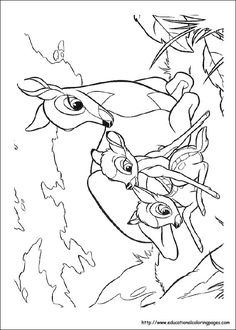 Bambi Coloring Pages - Educational Fun Kids Coloring Pages and Preschool Skills Worksheets