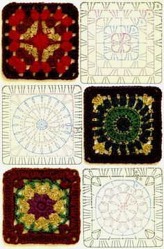 MY FAVORITES KNIT-HOOK: 50 square grids crocheted