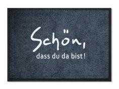 """mattilde Fußmatte """"SchönDa"""" 75x50cm, waschbar von mattilde.de   auf DaWanda.com"""