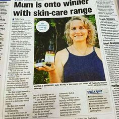 Positively Organic Skincare was featured in the Toowoomba Chronicle today!