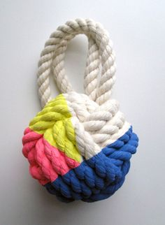 Cassandra Smith Monkey's Fist Knot Large Pink, Yellow and Blue