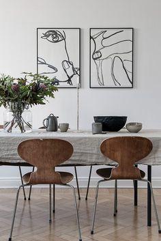 TDC   Fritz Hansen chairs and illustrative art by Amanda Asp Shop