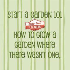 Start A Garden 101