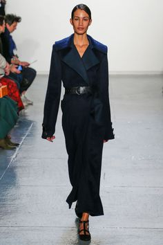 In her best collection to date, Misha Nonoo took a streamlined approach without abandoning the creative details that have become her trademark. A navy cashmere maxi coat was the sort of luxury piece that proves once again this designer has a knack for outerwear—the category she first started with.   - HarpersBAZAAR.com