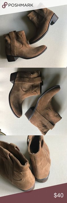 Suede Leather Boots Lucky Brand, Brown Ankle Boots; like new ( worn a handful of times) Lucky Brand Shoes Ankle Boots & Booties