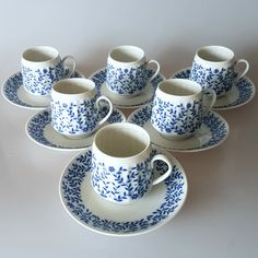 Listed a half a dozen rare Swedish vintage coffee cups from Rörstrands 1960s production.