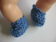 handmade crochet shoes boots 3 cm / 1,2  / for doll 8  #3