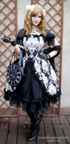 Last Sunday we had a meeting in Warsaw and here's my outfit. :D  Dress: Lady Sloth  Wig: Lockshop  Bag: Restyle  Everything else: taobao, lo...