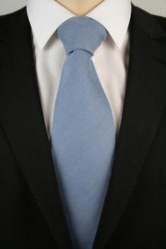Ziami 1 Seidenkrawatte 150cm Blaugrau