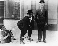 You're Darn Tootin', blowtorch, Oliver Hardy, Stan Laurel, Laurel and Hardy, sewer worker http://laurel-and-hardy.net/youre-darn-tootin-1928-starring-stan-laurel-oliver-hardy/ #OliverHardy #StanLaurel #YoureDarnTootin