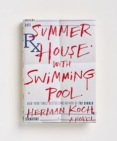 The typography in this cover cover is fearful and beautiful at the same time. I love the red on white color scheme and how the type looks hand-written. It makes it even more disturbing. However I'm not sure about the blue Px in the top left corner, it seems misplaced and is confusing.
