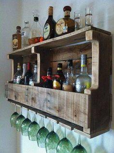Para los vinos y copas, con palets!