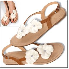 Floral Flat Sandal* fresh spring sandal with suedelike insole and elastic strap for easy on/off.  www.youravon.com/dsheckler #avon #sandal #shoe