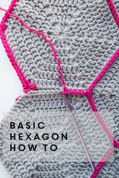 Basic hex tutorial. In British crochet terms. British treble = American double. Love the pop of color