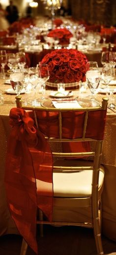 37 Sparkling Ideas for Red Themed Wedding in 2018 | red elegant ...