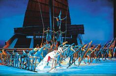 """China's first ocean-themed dance drama """"The Maritime Silk Road"""" has hit the stage here in the capital. It features a love story set ..."""