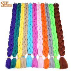 Silky Strands Jumbo Braiding Hair Bulk 82inch 165g Synthetic Jumbo Braids Hair Extensions High Temperature Fiber 1Piece/Lot