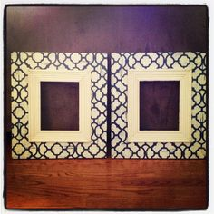 Moroccan Stenciled 8x10 Wood frame with by KyGraceDesignsToo, $156.00