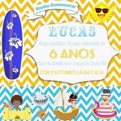 Convite Mundo Bita Surfista - 15x15