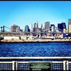 South Williamsburg East River Ferry stop looking towards Manhattan & Brooklyn Bridges