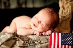 Army Baby #Newborn baby #U.S. Army #Photography Ideas