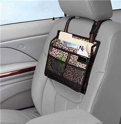 Hangs on front seat Organizer - Leopard Cheetah print