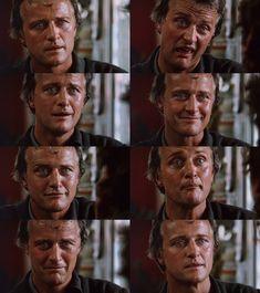 The many faces of Rutger Hauer in The Hitcher Ridley Scott Blade Runner, Heavy Metal 1981, Harrison Ford Movies, The Hitcher, Roy Batty, Aliens 1986, Richard Donner, Sean Young, Rutger Hauer