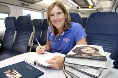 Signing autobiographies for Southeastern Railways staff
