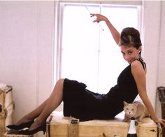 little black dress, audrey-style