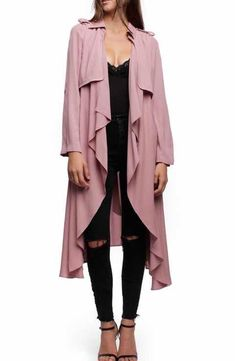 Line & Dot Robaina Trench Coat #RaincoatsForWomenPolkaDots