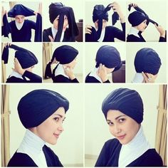 Turban Style Hijab Tutorials  tumblr m4z5xdMkBO1ro60tuo1 5002