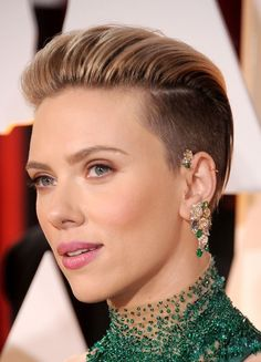 Best Ear Jewellery: Scarlett Johansson. We love these cool, grown-up piercings paired with her gently bronzed complexion. See the rest of our award-winning beauty looks on www.redonline.co.uk