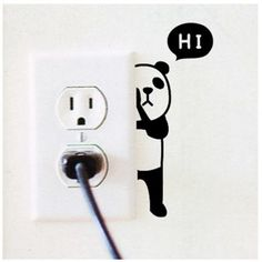 Buy Panda Switch Sticker Wall Quote Wall Stickers Vinyl Decor Decals Home Mural at Wish - Shopping Made Fun Vinyl Decor, Wall Painting Decor, Wall Art, Wall Paintings, Creative Wall Painting, Wall Drawing, House Drawing, Wall Decal Sticker, Paint Designs