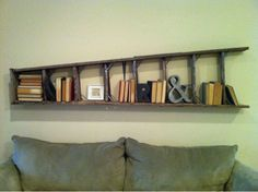Love this old ladder used as a shelf. ❤❤❤                                                                                                                                                                                 More