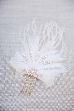 Featured Photographer: Lori Paladino Photography; wedding hair accessory idea