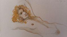 Naked girl on a lazy Sunday