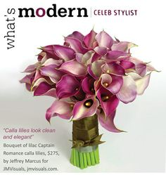 Calla Lily Bouquet  What's not to love!  love the movement
