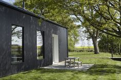 For Sale: Bressingham, Norfolk Contemporary Barn, Contemporary Bedroom, Black Shed, Shed Homes, Barn Homes, Steel Barns, Modern Barn House, Steel House, Garden Office